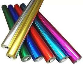 Papel de colores metálicos