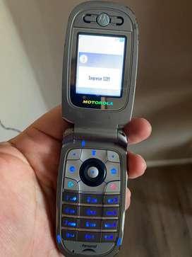 Celular Motorola con Tapa para Personal