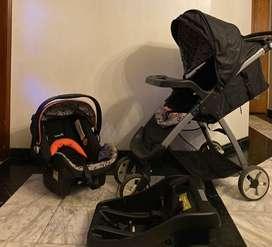 Coche para bebe y silla de carro