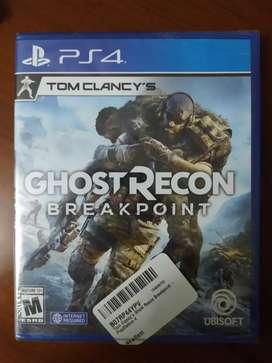 Ghost Recon Breakpoint Ps4 nuevo sellado