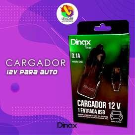 Cargador 12V Dinax para auto