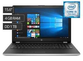 Laptop Hp 15,6 I5 7ma Generación 4gb/1tb