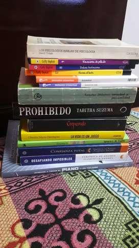14 Libros( todos por 500 pesos)