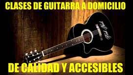 CLASES DE GUITARRA ACUSTICA A DOMIILIO