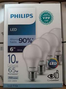 pack de 4 lamparas philips 10w reemplaza 65W