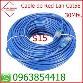Cable de Red Cat5e  30Mts  a  $15
