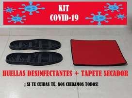 Kit desinfectante (Incluye huellas + tapete secador)