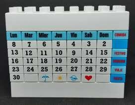 Calendario infinito tipo LEGO