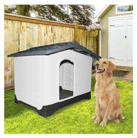 Casa Para Perro Plástica Lado Abatible 83 X 111 X 80 Cm