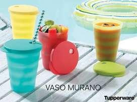 Vasos Murano con Tapa Tupperware