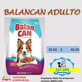 Alimento Balancan 30kg para perro adulto