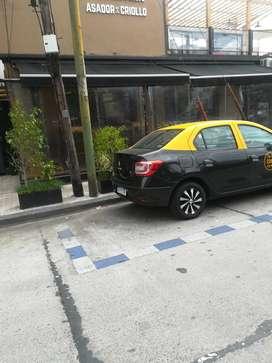 Taxi c licencia y habilitación reloj radio