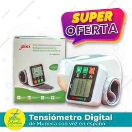 Tensiómetro digital de muñeca con voz en español