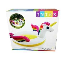 Piscina de unicornio intex + inflador