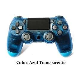 Mando Inalámbrico Bluetooth para PS4/PC/iPhone/iPad/ Color: Azul Transparente