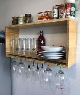 Repisa para Cocina O Bar en Madera Pino