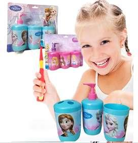 Princesas Frozen Set Baño Niñas Accesorios Juguetes Juego