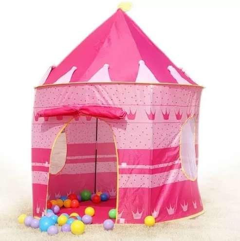Carpa Castillo Princesas Casa Jardin Patio Imaginacion Rosad 0