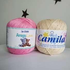 Algodón mercerizado lana AmiguLove y Camila+