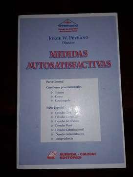 Libro jurídico: Medidas Autosatisfactivas. Autor: Jorge W. Peyrano