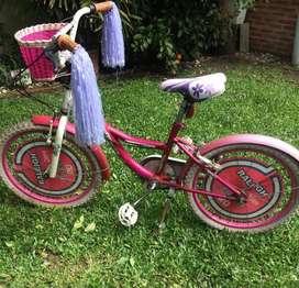 Bicicleta infantil Raleigh R20 color rosa/blanco