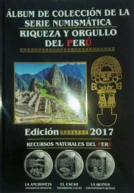 Álbum Colección de Monedas Riquezas Peru