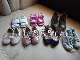 Zapatos americanos de niña como nuevos muy poco uso.