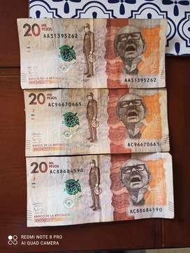 Vendo billetes serie ac