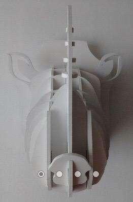 Escultura de Rinoceronte Mdf facetado