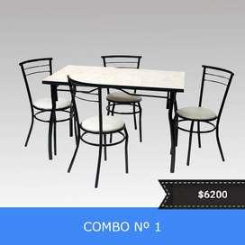combos mesas y sillas