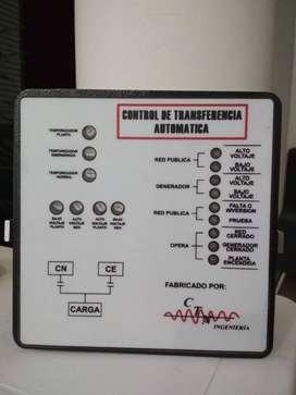 Controlador de transferencia automática 110V ó 220V Trifasico