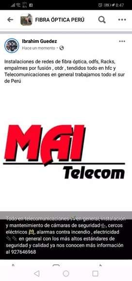 Telecomunicaciones en general y electricidad