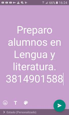 Preparo alumnos en lengua y literatura