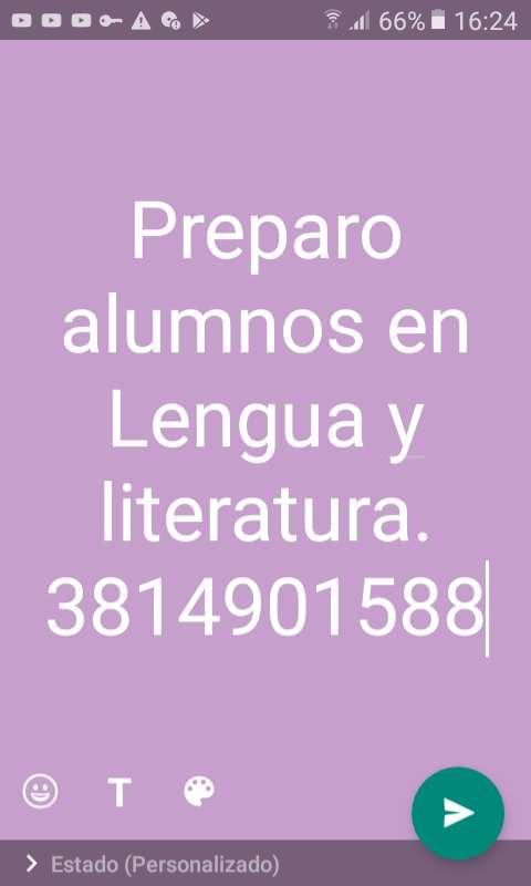 Preparo alumnos en lengua y literatura 0