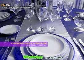 Alquiler De Vasos De Vidrio Copas De Cristal Copones Para Degustacion Cristaleria Vajilla Platos Cubiertos Eventso CABA
