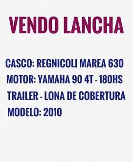 LANCHA REGNICOLI MAREA 630 CON MOTOR Y TRAILER U$$ 15.000