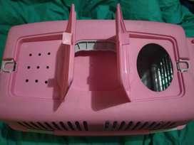 Caja de transporte para perro o gato _rosada