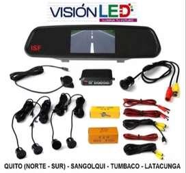 Pantalla Retrovisor Tipo Espejo Camara Retro Full Hd Sensor