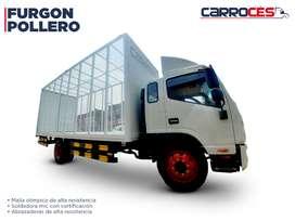 Venta y Fabricación de Furgón Pollero (Hino, Jac X200, Volvo, Isuzu npr, Hyundai H100)