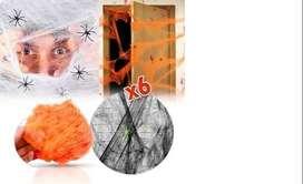 Telaraña Decoración De Halloween X6 Red Arañas Fiesta Terror