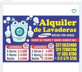 ALQUILER DE LAVADORAS SAMSUNG DE 20 - 21 - 26  Y 27 LIBRAS ...