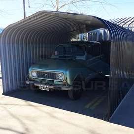 Garage Módulo Autoportante Chapa Curva T98 Color C25 Ternium Siderar