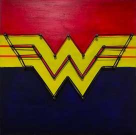 MujerMaravilla-Wonderwoman20x20cm MDF