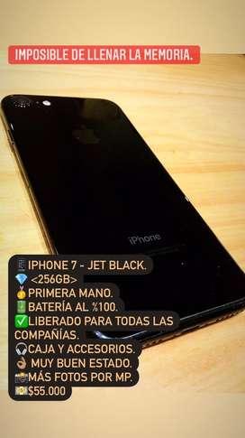 Iphone 7 256gb - Jet Black Primera Mano .