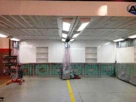 Cabina de pintura Expres o Área de Preparación. De dos puestos