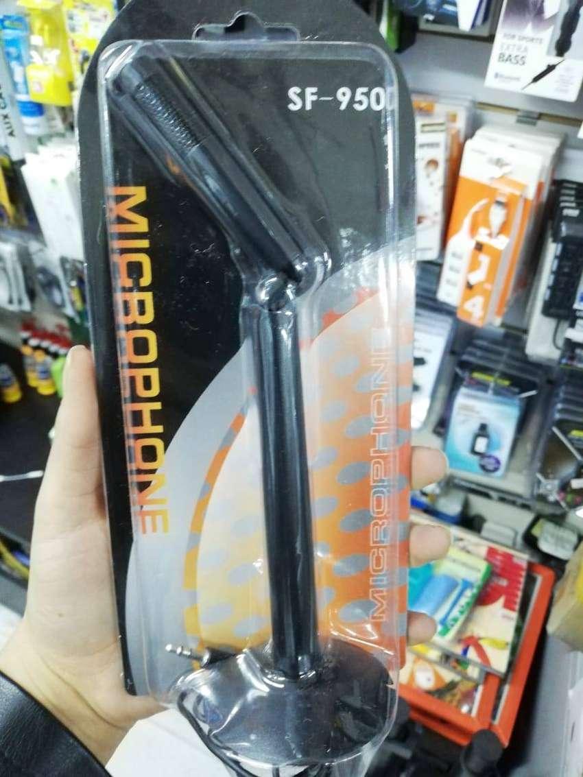 Microfono De Base Para Pc Acustico Desmontable X1 Plug 3.5mm Computador Mesa retractil