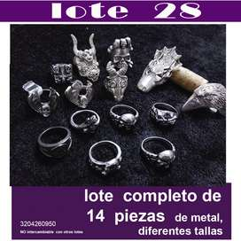 lote  #28 de 14 piezas anillos diferentes tamaños