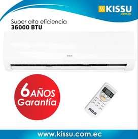 Aire Acondicionado Rca Split alta eficiencia Ecológico 36000 Btu GRATIS Envio + soporte para compresor