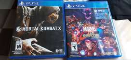 Mortal Kombat X / Marvel vs Capcom Infinite para PS4