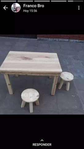 Mesas , tablas , blanquito